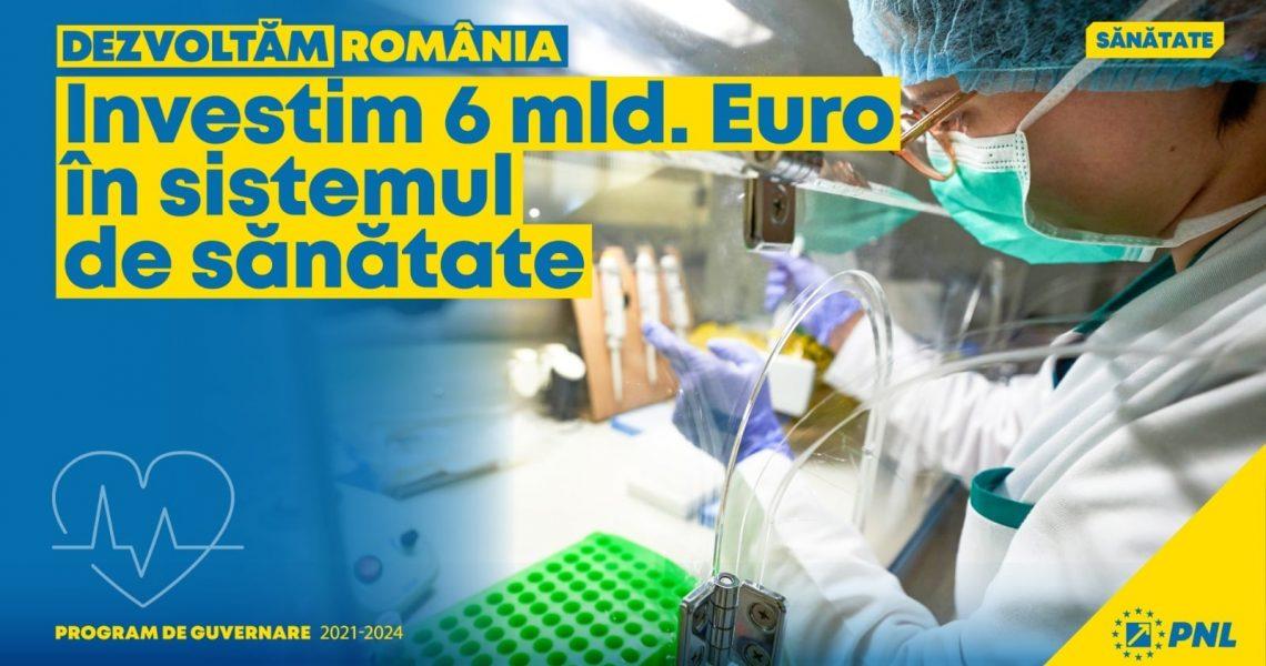 Investim 6 mld. euro în sistemul de sănătate